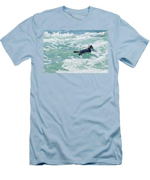 Otter At Montana De Oro Men's T-Shirt (Slim Fit) by Michael Rock