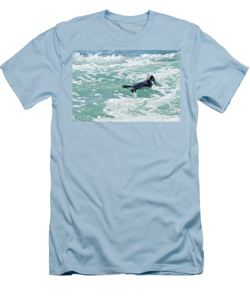 Otter At Montana De Oro Men's T-Shirt (Athletic Fit)
