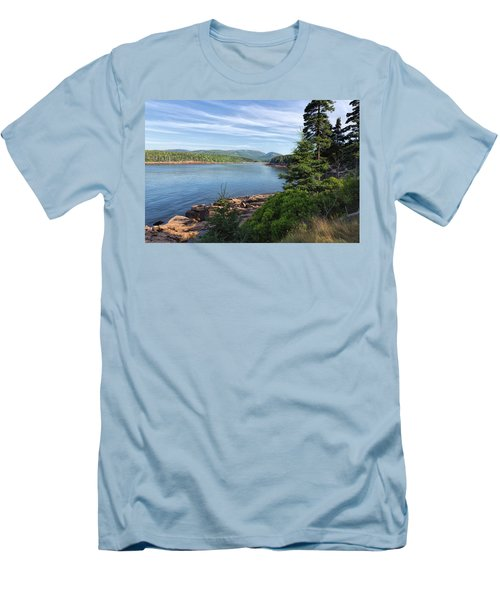 Men's T-Shirt (Athletic Fit) featuring the photograph Otter Cove by John M Bailey