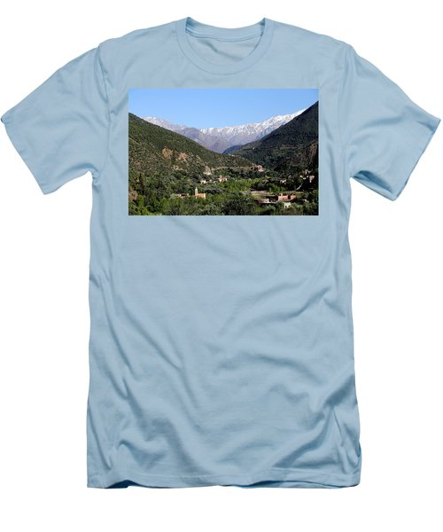 Men's T-Shirt (Slim Fit) featuring the photograph Ourika Valley 2 by Andrew Fare
