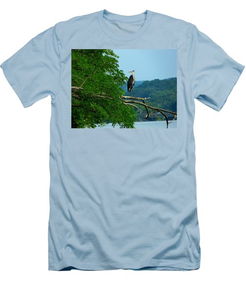Out On A Limb Men's T-Shirt (Slim Fit) by Donald C Morgan