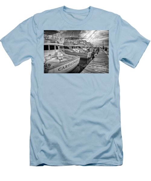 Outer Banks Fishing Boats Waiting Bw Men's T-Shirt (Athletic Fit)