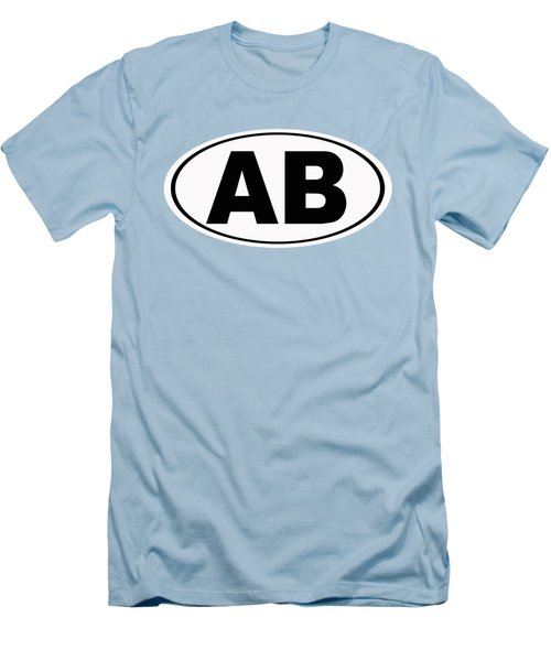 Men's T-Shirt (Slim Fit) featuring the photograph Oval Ab Atlantic Beach Florida Home Pride by Keith Webber Jr
