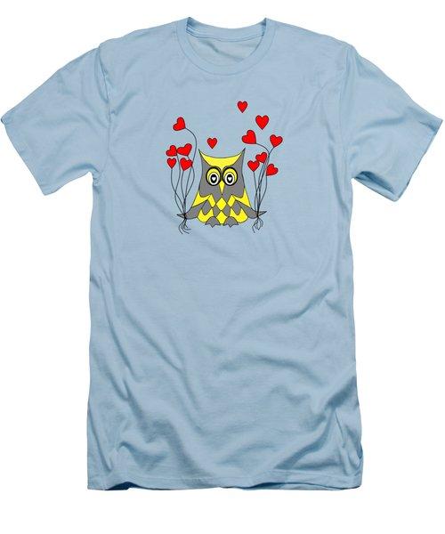 Owl Always Love You Men's T-Shirt (Slim Fit) by Kathleen Sartoris