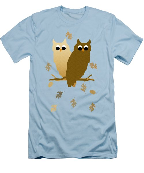 Owls Pattern Art Men's T-Shirt (Slim Fit) by Christina Rollo