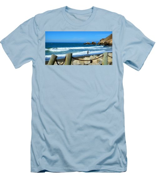 Men's T-Shirt (Slim Fit) featuring the photograph Pacifica Coast by Glenn McCarthy Art and Photography