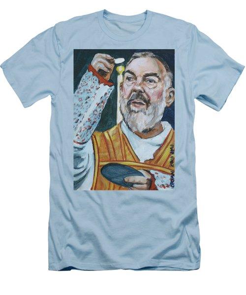 Padre Pio Men's T-Shirt (Athletic Fit)