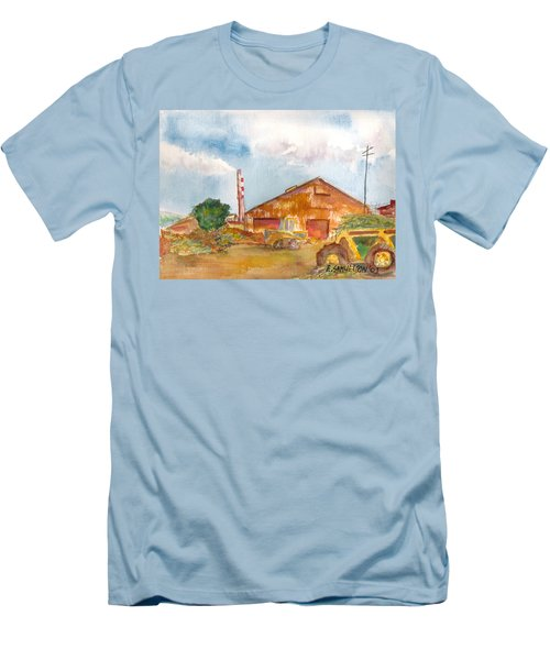 Men's T-Shirt (Slim Fit) featuring the painting Paia Mill 3 by Eric Samuelson