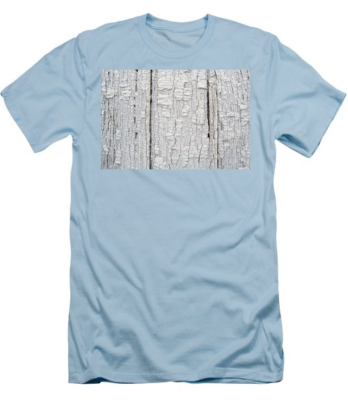 Men's T-Shirt (Slim Fit) featuring the photograph Painted Aged Wood by John Williams