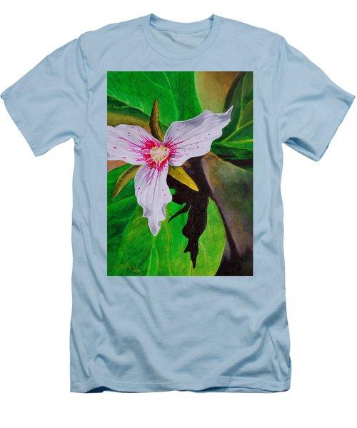 Painted Trillium Men's T-Shirt (Athletic Fit)