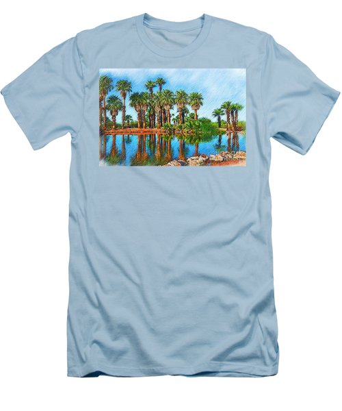 Palm Reflections Sketched Men's T-Shirt (Athletic Fit)
