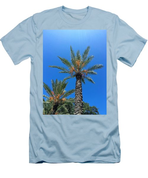 Palm Trees Men's T-Shirt (Slim Fit) by Kay Gilley
