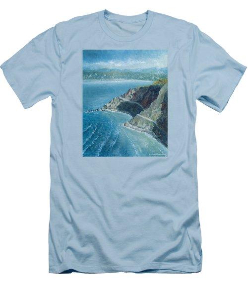 Palos Verdes Autumn Morning, No. 1 Men's T-Shirt (Slim Fit) by Douglas Castleman
