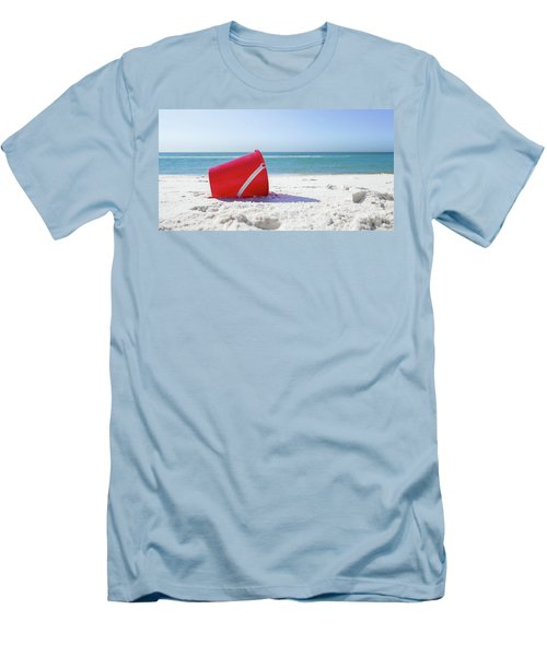 Panama Beach Florida Sandy Beach Men's T-Shirt (Athletic Fit)