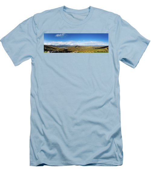 Men's T-Shirt (Slim Fit) featuring the photograph Panorama Of Ballycullane And Lough Acoose In Ireland by Semmick Photo