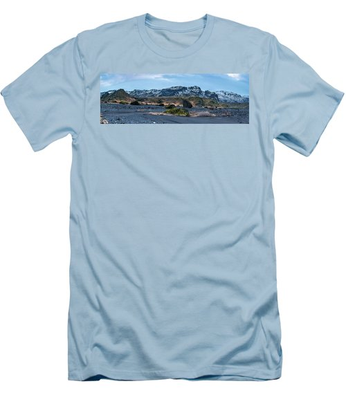 Panorama View Of An Icelandic Mountain Range Men's T-Shirt (Athletic Fit)