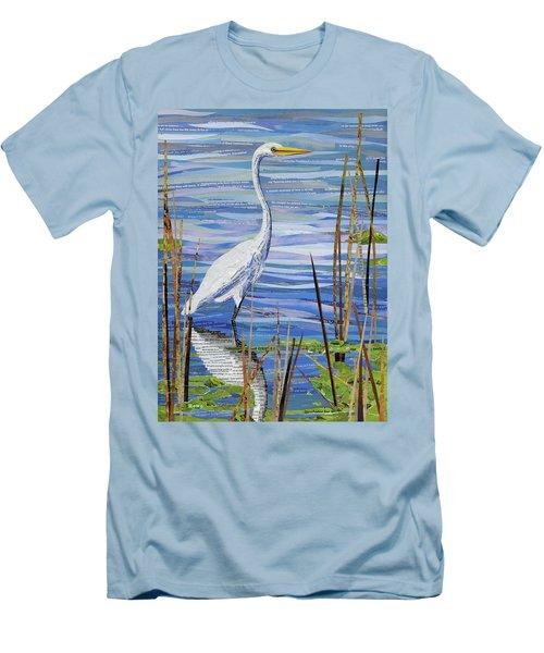 Paper Crane Men's T-Shirt (Slim Fit) by Shawna Rowe