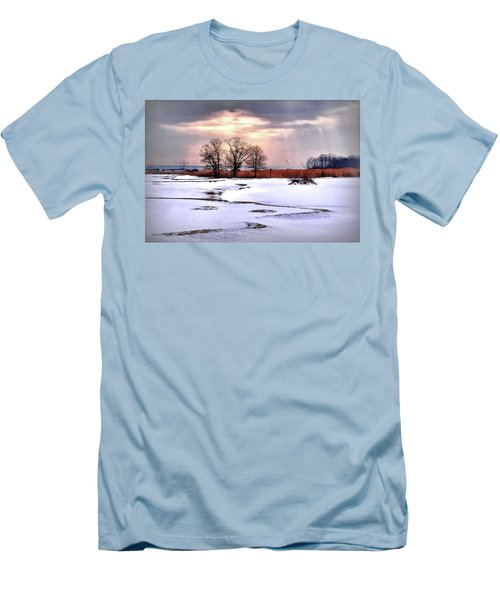Par For Winter's Course Men's T-Shirt (Slim Fit) by Diana Angstadt