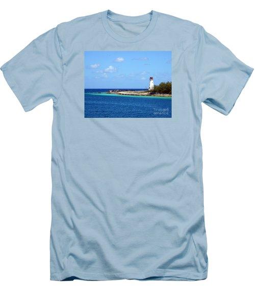 Paradise Island Lighthouse  Men's T-Shirt (Athletic Fit)