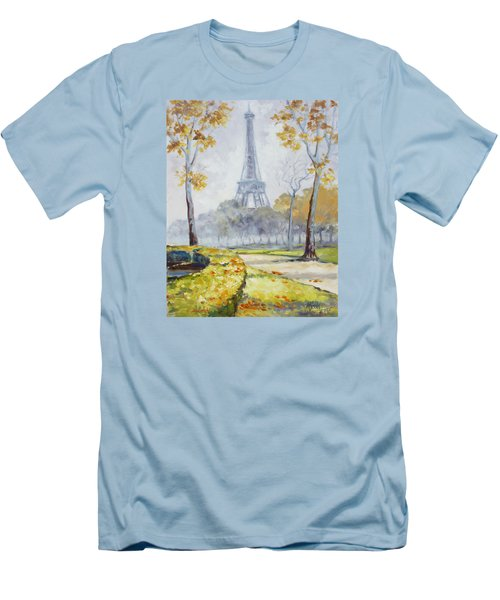 Paris Eiffel Tower From Trocadero Park Men's T-Shirt (Athletic Fit)