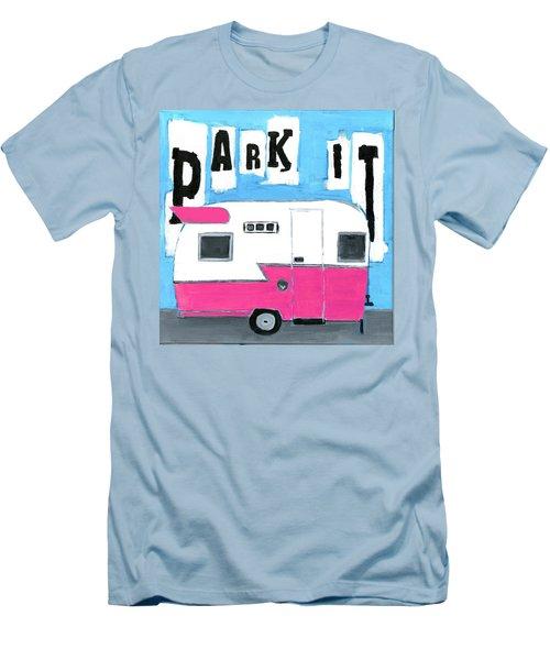 Park It- Pink Men's T-Shirt (Athletic Fit)