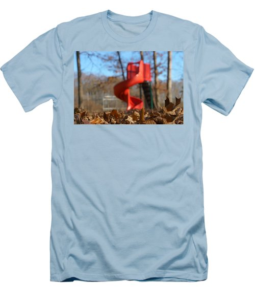 Men's T-Shirt (Athletic Fit) featuring the pyrography Park Slide by Greg Collins