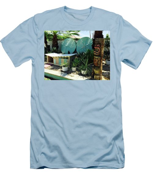 Party At The Doghouse Men's T-Shirt (Slim Fit) by Beth Saffer