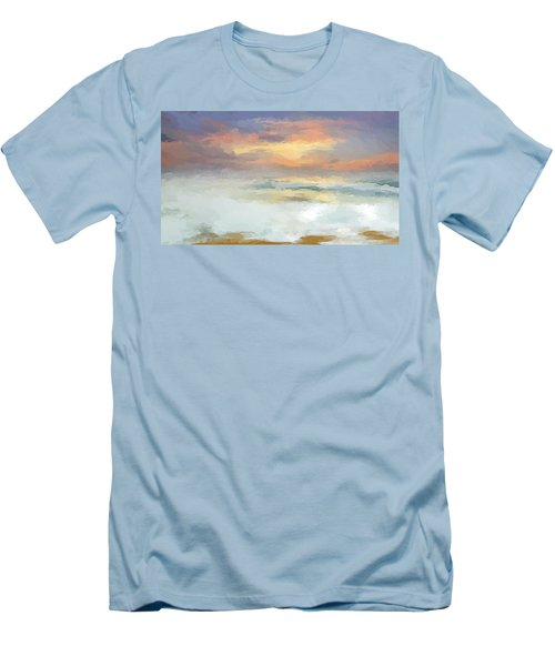 Pastel Beach Mornning Men's T-Shirt (Athletic Fit)