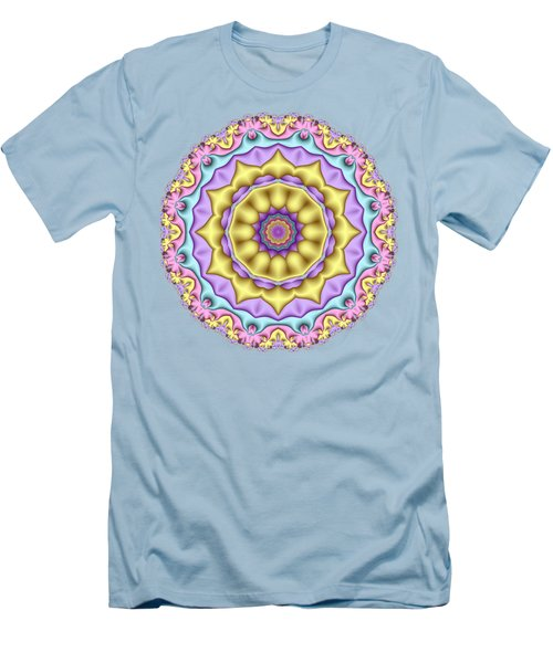 Pastel Fractal Mandala 01 Men's T-Shirt (Athletic Fit)