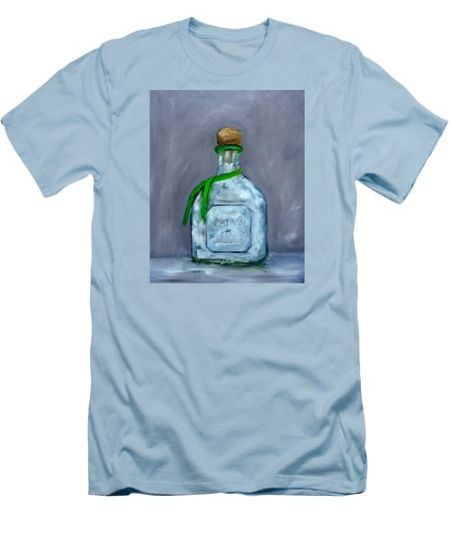 Patron Silver Tequila Bottle Man Cave  Men's T-Shirt (Athletic Fit)