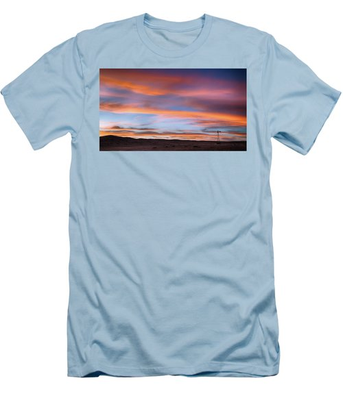 Men's T-Shirt (Athletic Fit) featuring the photograph Pawnee Sunset by Monte Stevens