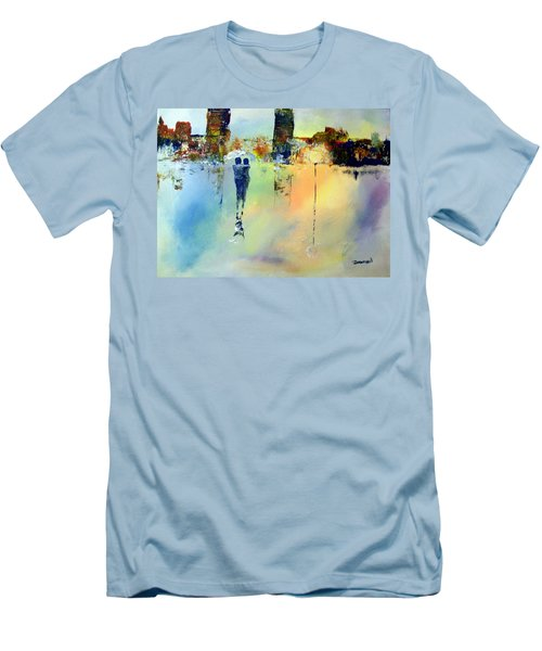 Men's T-Shirt (Slim Fit) featuring the painting Peace At Twilight by Raymond Doward