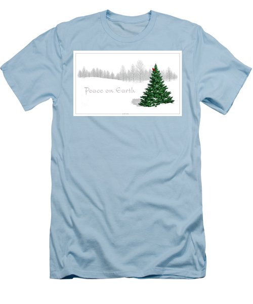 Men's T-Shirt (Slim Fit) featuring the digital art Peace On Earth by Scott Ross
