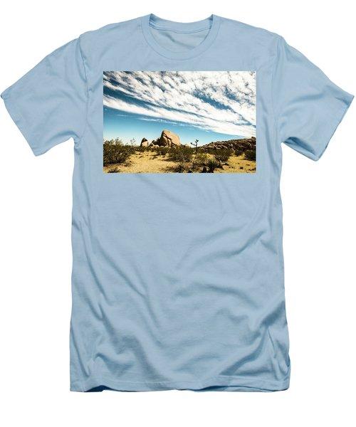 Peaceful Boulder Men's T-Shirt (Slim Fit) by Amyn Nasser