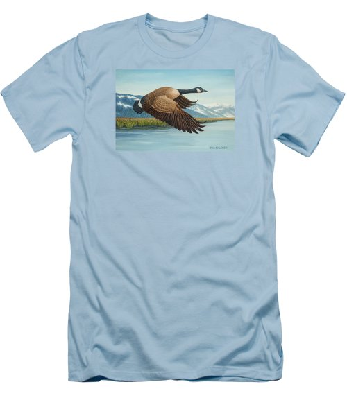 Peaceful Flight Men's T-Shirt (Athletic Fit)