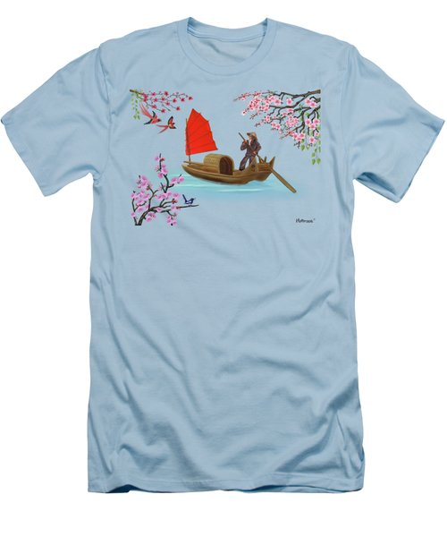 Peaceful Journey Men's T-Shirt (Slim Fit) by Glenn Holbrook