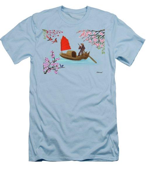 Peaceful Journey Men's T-Shirt (Slim Fit) by Glenn Holbrook