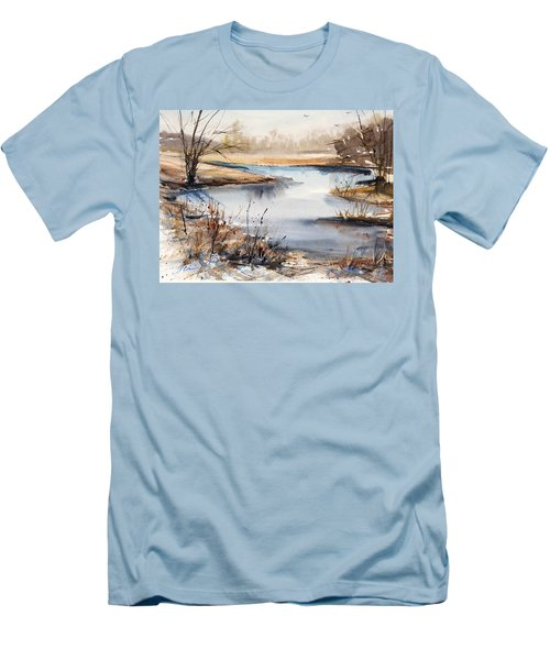 Peaceful Stream Men's T-Shirt (Slim Fit) by Judith Levins