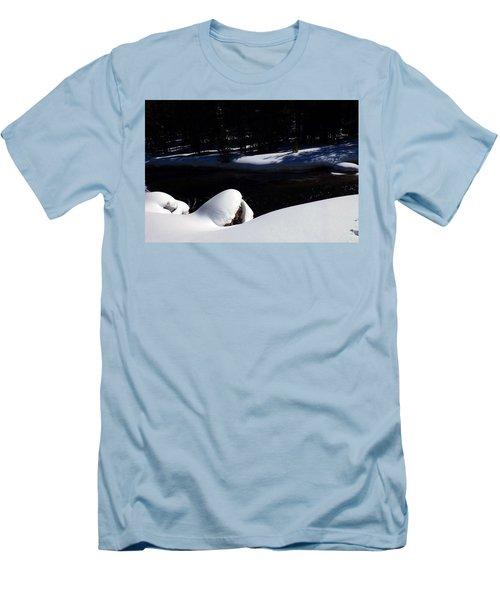 Peaceful Winter Scene Men's T-Shirt (Slim Fit) by C Sitton