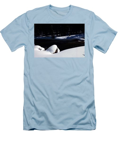 Peaceful Winter Scene Men's T-Shirt (Athletic Fit)