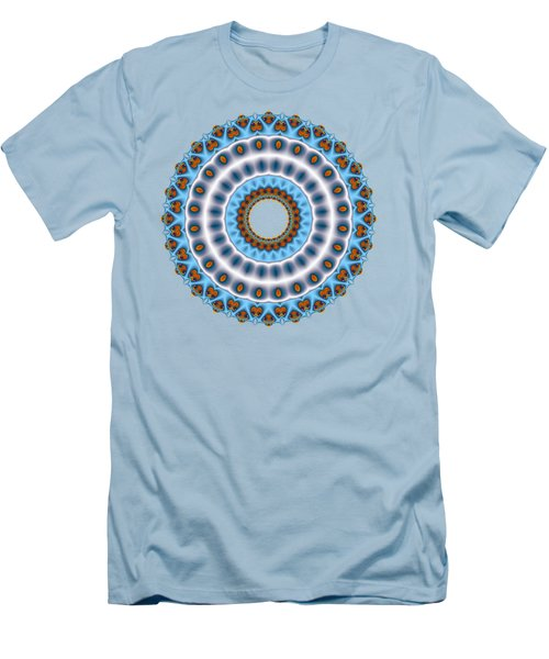Peacock Fractal Mandala I Men's T-Shirt (Athletic Fit)