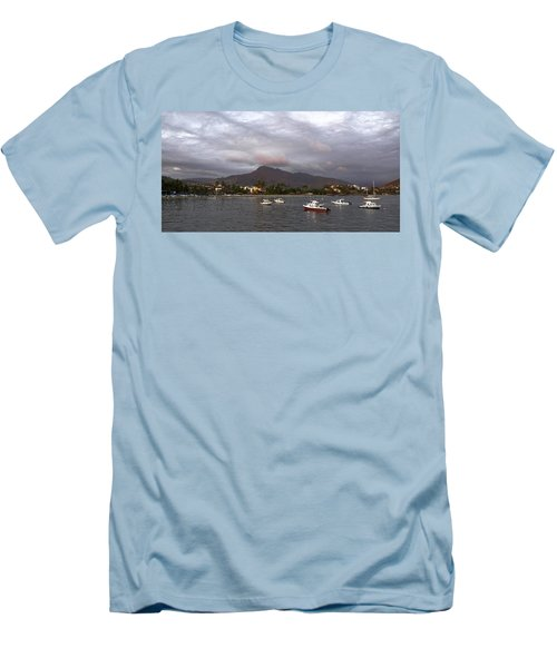 Men's T-Shirt (Slim Fit) featuring the photograph Peaceful by Jim Walls PhotoArtist