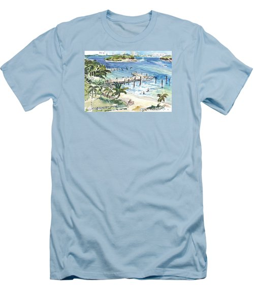 Peanut Island Men's T-Shirt (Athletic Fit)