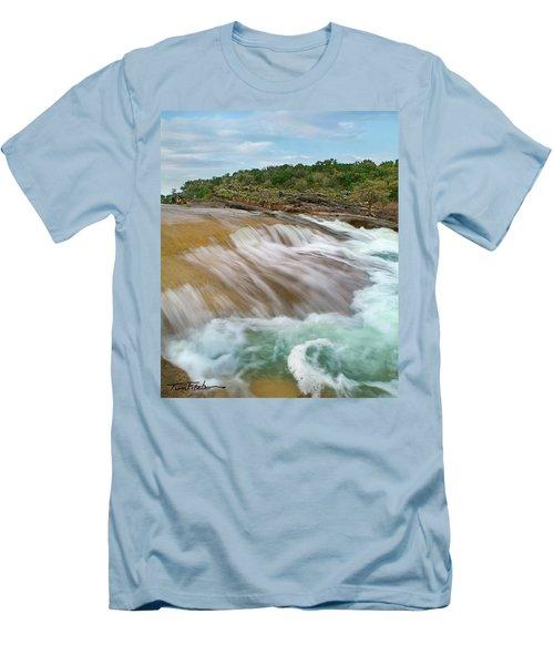 Pedernales Falls Men's T-Shirt (Slim Fit) by Tim Fitzharris