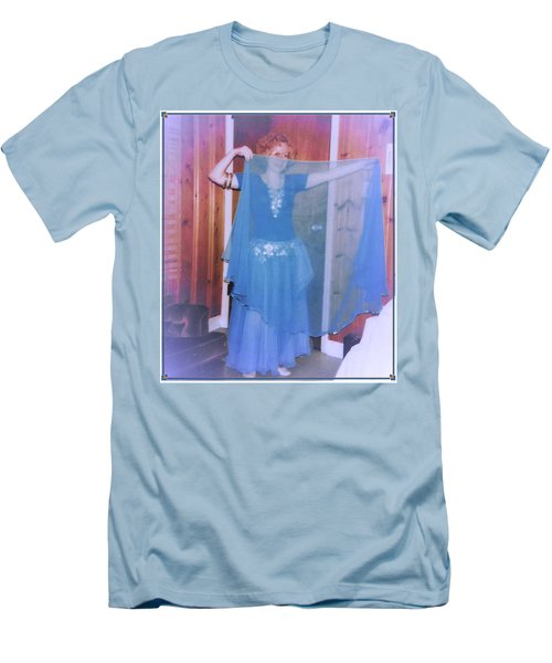 Men's T-Shirt (Athletic Fit) featuring the photograph Peek-a-boo Dancer by Denise Fulmer