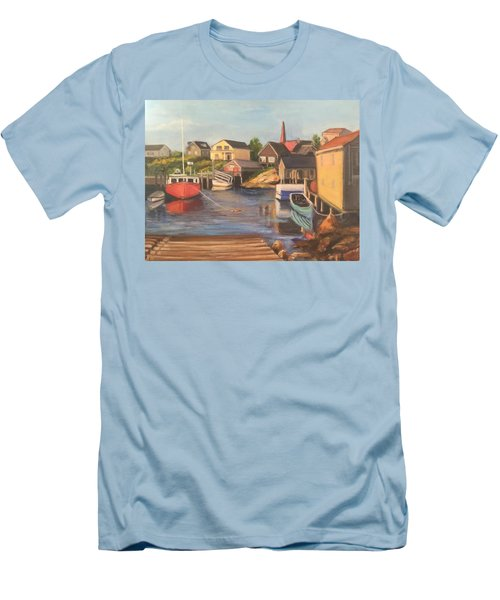 Peggy 's Cove, Halifax Nova Scotia, Canada  Men's T-Shirt (Athletic Fit)