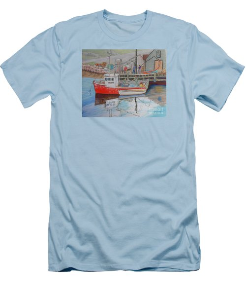 Peggy's Cove  Fishermen Men's T-Shirt (Slim Fit) by Rae  Smith