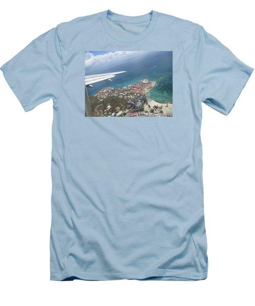Pelican Key St Maarten Men's T-Shirt (Slim Fit) by Christopher Kirby