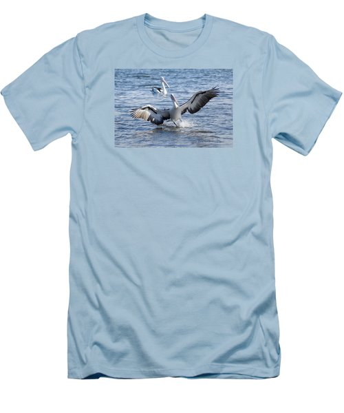 Men's T-Shirt (Slim Fit) featuring the photograph Pelican Landing 01 by Kevin Chippindall
