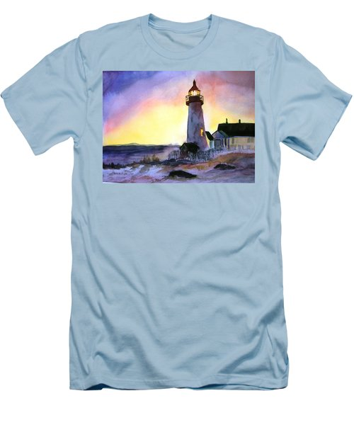 Pemaquid Point Lighthouse Maine Men's T-Shirt (Athletic Fit)